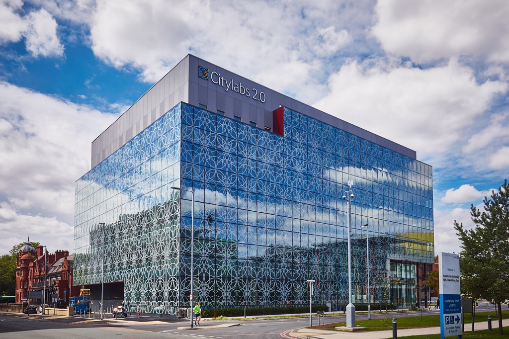An image of the CityLabs building which Manchester University NHS Foundation Trust has worked with Bruntwood to bring the exciting and pioneering project to life