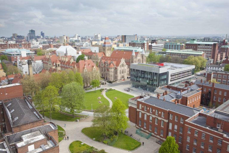 An aerial view of the university of manchester