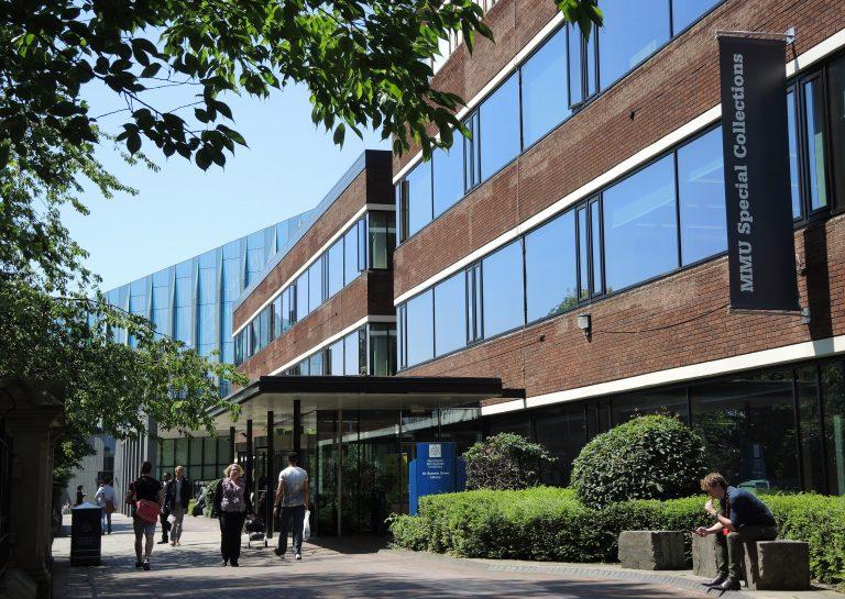 Exterior of Manchester Metropolitan University's Special Collections Oxford Road Corridor Manchester