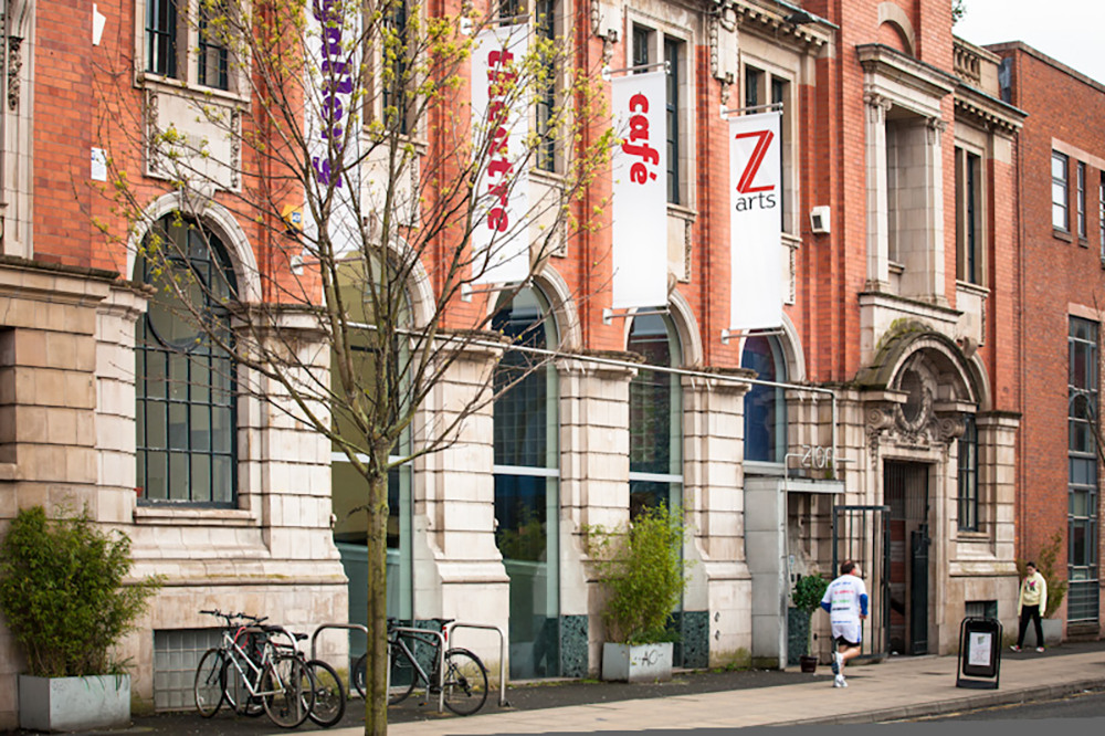 An exteral shot of Z-arts in Manchester