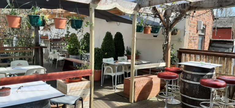 photo of roof terrace at big hands