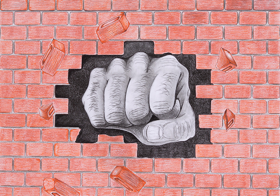 Soul Journey to Truth artwork showing a fist punch through a wall