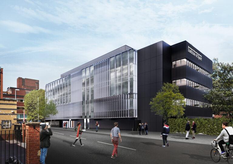A CGI impression of Manchester Metropolitan Institute of Sport