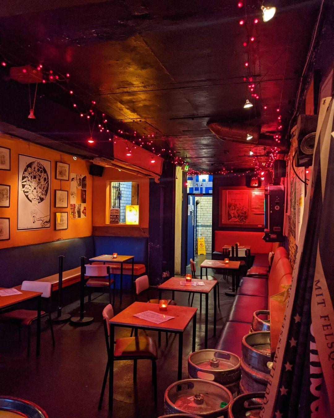 Interior shot of Temple Bar in Mancheter